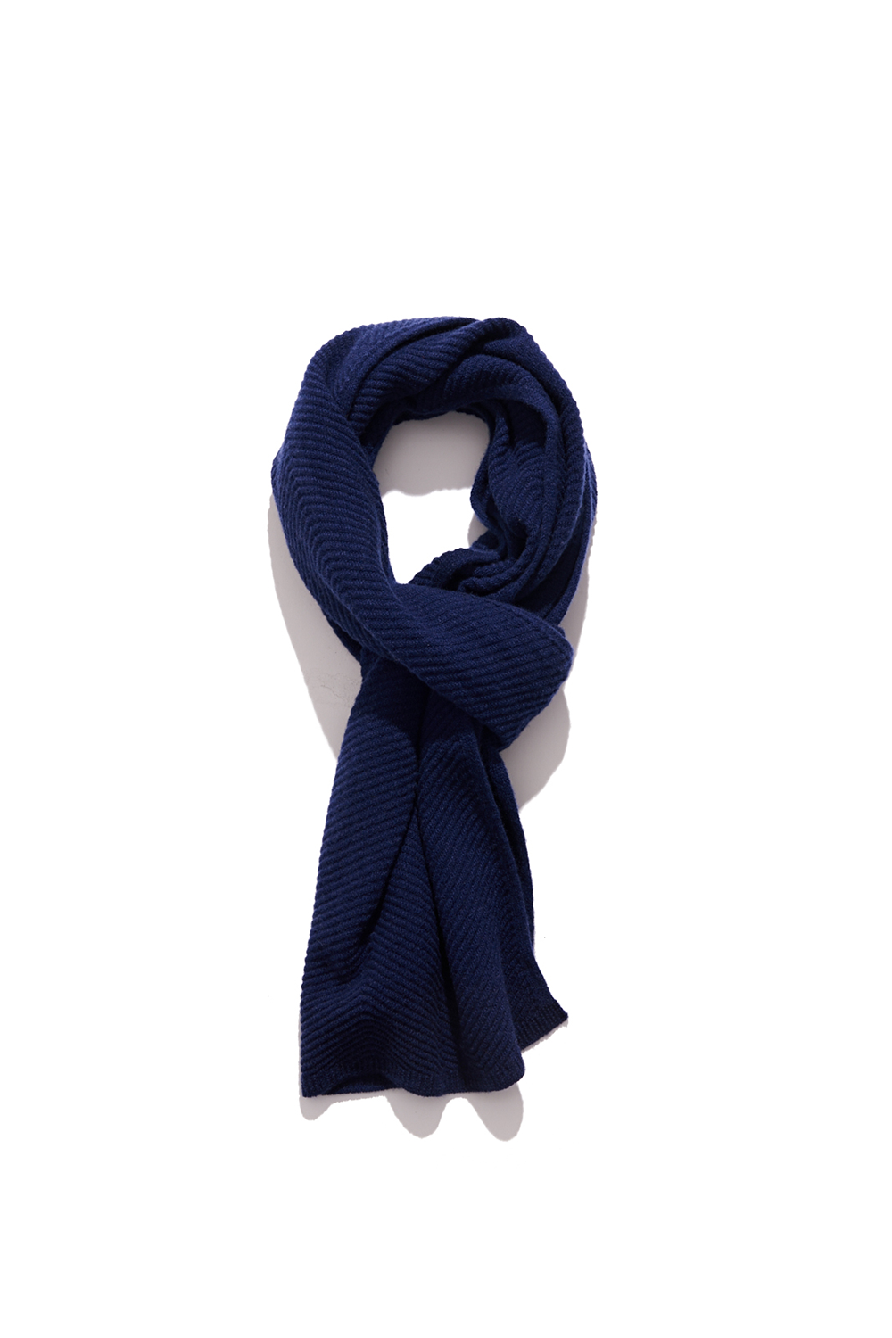 Premium pure cashmere100 whole-garment knitting shawl and scarf - Royal navy (인기 상품)